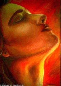 Spiritually Centered' oil on canvas by Karen Zima. http://artscad.com/A.nsf/Opra/SRVV-7HP5TF